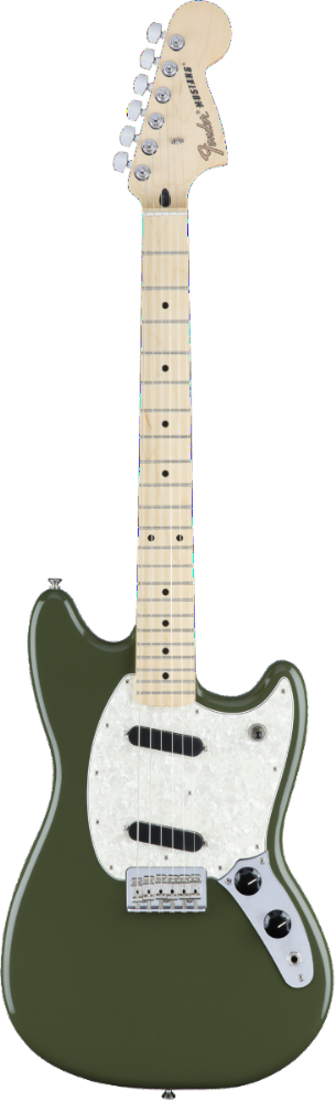 Fender Mustang Maple Fingerboard Olive